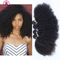 Монгольский Странный Вьющиеся Волосы 8А Природных Афро Кудрявый Вьющиеся Дева волосы Монгольский Afro Kinky Вьющиеся Weave Человеческих Волос 4 Связки дело