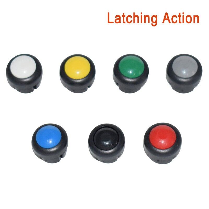 7 x кнопка включения мотоцикла сигнал поворота Высокий Низкий Луч Электрический старт Kill ON OFF кнопки мгновенного действия с фиксацией - Цвет: Set A