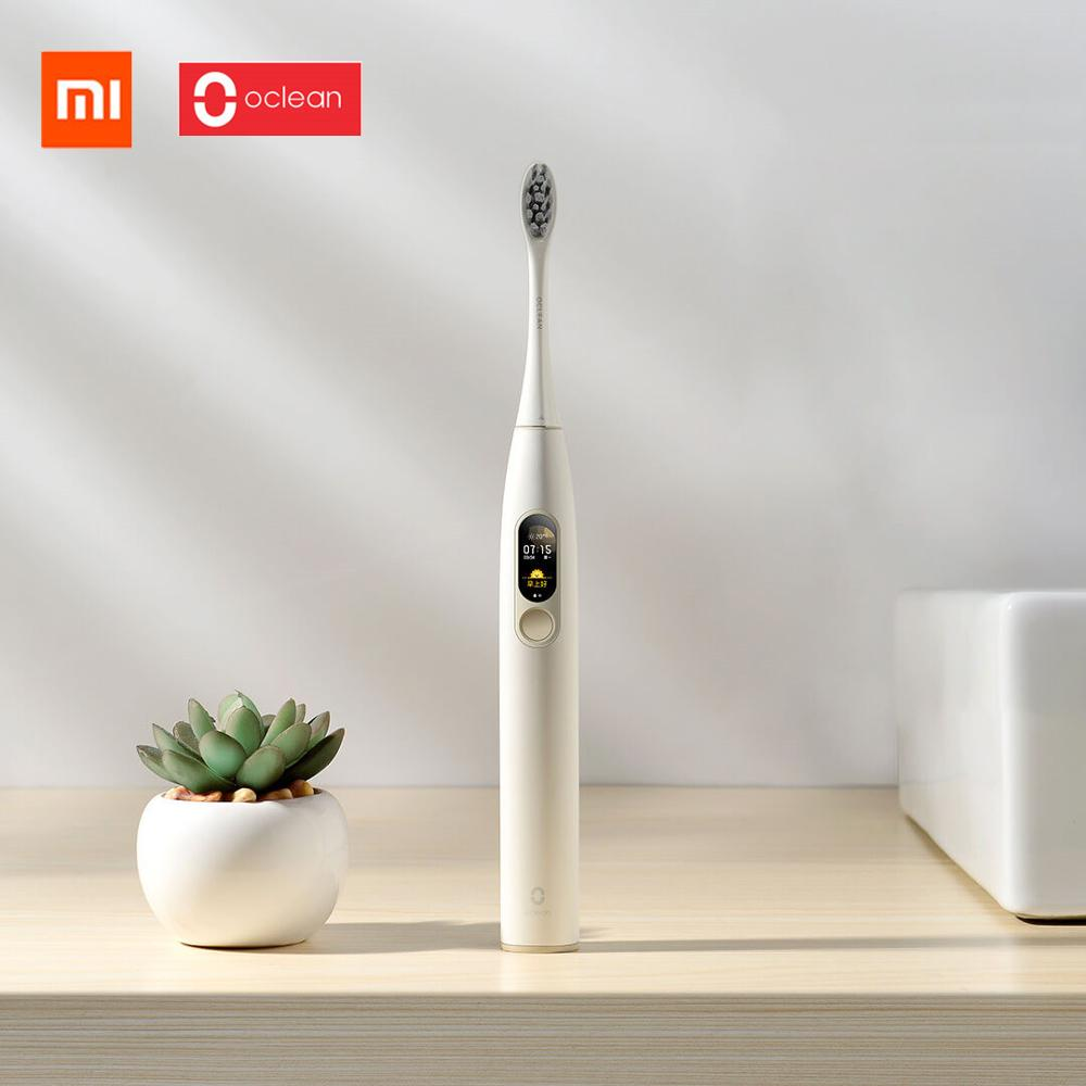 Original Xiaomi mijia Oclean X Cor da Tela de Toque Inteligente Sonora escova de Dentes Elétrica/Clareamento/Cuidados de Goma de Xiaomi youpin