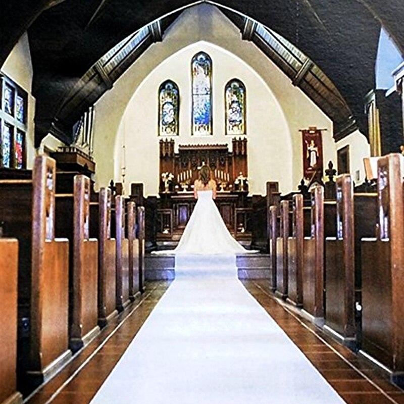 Свадьба прохода бегун 30 м x 90 см белый цветочный свадебный ковер вечерние украшения нетканых ковровой дорожкой для церкви этап зал