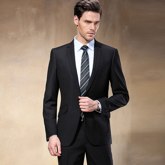 2017 Western Style Black Color Men Business Suits Brand Boss Suit For S Wedding Groom