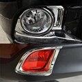 Автомобильные аксессуары  пригодный для Toyota Highlander 2015 ABS Хромированная внешняя передняя лампа заднего противотуманного фонаря  накладка  на...