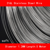 316L Stainless Steel Wire Soft Diameter 1 2mm Length 5 Meter