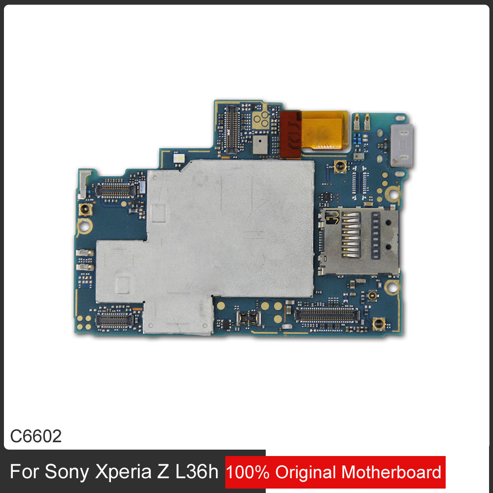 hight resolution of 100 original unlocked main board circuit for sony l36h xperia z c6602 good working motherboard with chip