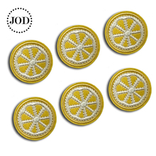 6 Pieces/Lot Lemon Mini Iron on Patches for Clothing Decoration Clothes Patch Small Sewing Stickers Fabric Badges Embroidery JOD 360 degree rotatable protective pu pc flip open case w stand for ipad air deep blue