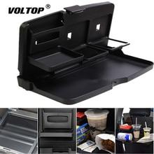 все цены на Universal Car Cup Holder Organizer Car Front Seat Back Table Drinks Folding Cup Holder Stand Desk Black Trays онлайн