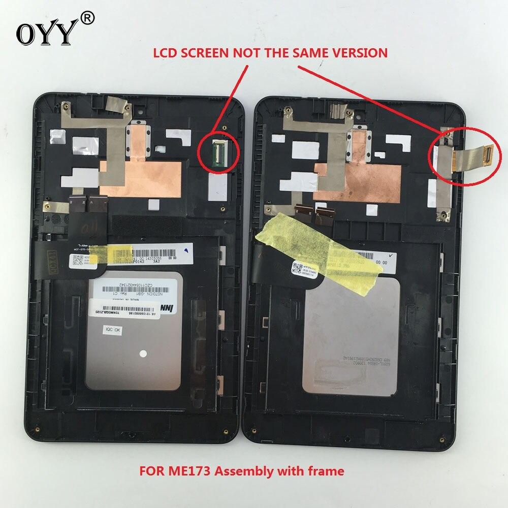 N070ICN-GB1 und LD070WX4-SM01 LCD Display Touchscreen Digitizer Glass Assembly Für Asus MemoPad HD7 ME173 ME173X K00B
