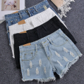 Summer Women Shorts 2016  Vintage High Waist  Denim Shorts Zipper Women Fashion Sexy Jeans Shorts Plus Size
