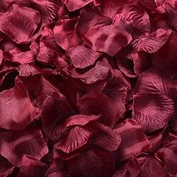 1000 шт./лот, лепестки роз, свадебные, искусственные шелковые цветы, украшения, свадебные, вечерние, цветные, 40 цветов, RP01 - Цвет: dark red