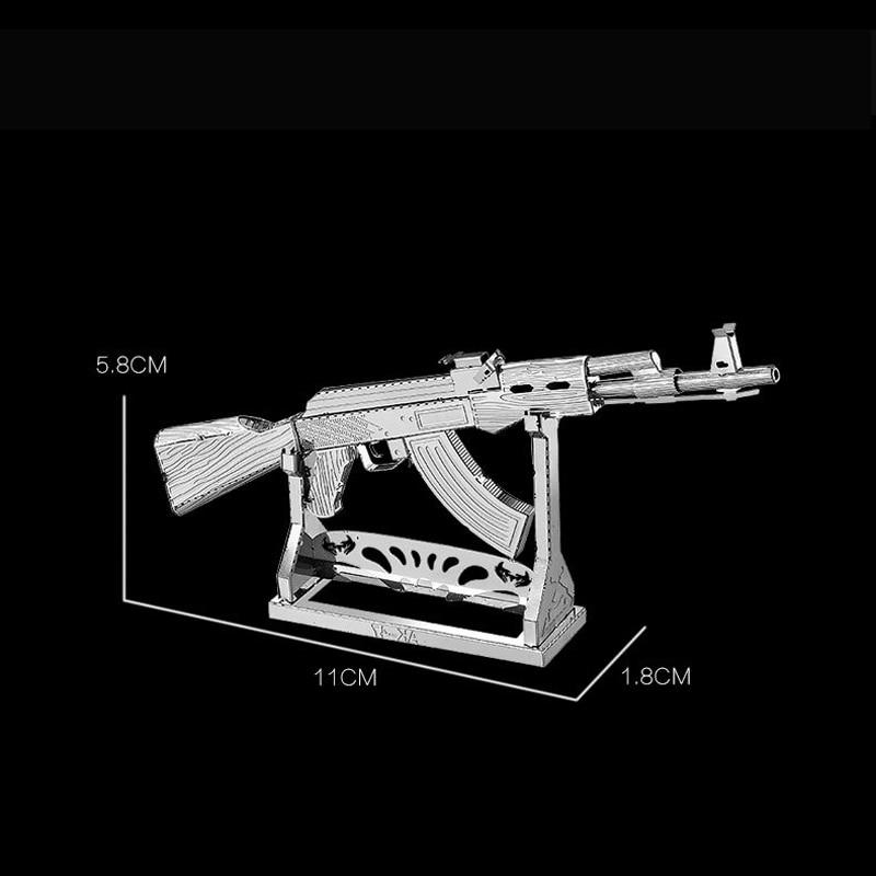 Nanyuan 3D Metal Puzzle AK-47 სამხედრო - ფაზლები - ფოტო 2