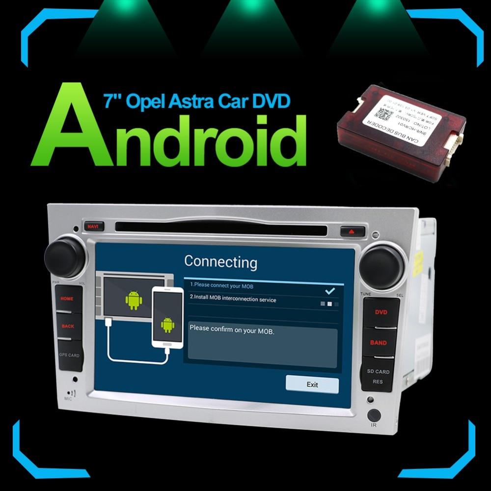 2 Din Radio dvd de voiture lecteur multimédia idéal pour Opel Vectra Corsa D Astra H Volant Audio Android 7.1 Vidéo RDS carte CAM DAB