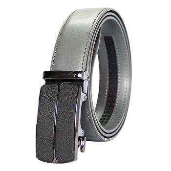 New Arrivals Men 100% Genuine Leather Belt Cowhide Cowboy Straps With Alloy Automatic Buckle Gray Color