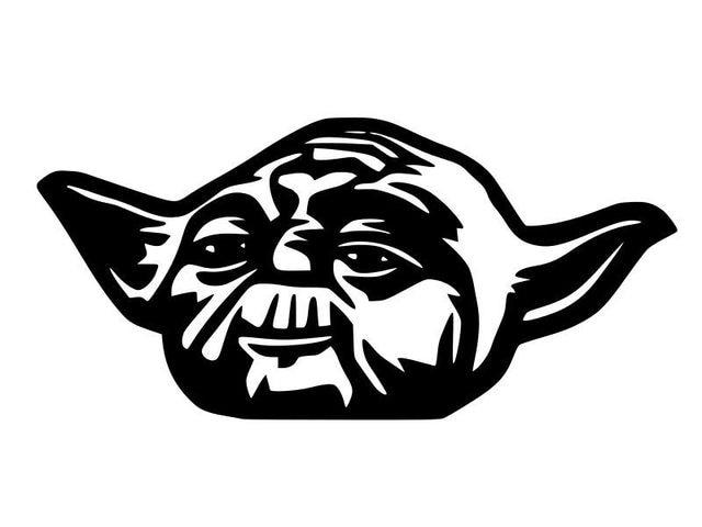 Line Drawing Yoda : Star wars car sticker creative cartoon yoda jedi force vinyl