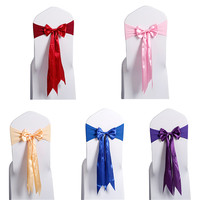 Wholesale 10pcs Set New Design Organza Chair Sash Bow Chair Cover For Banquet Wedding Party Decoration