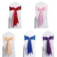 Bán buôn 10 cái/bộ Thiết Kế Mới của Organza Tịch Sash Bow Ghế Bìa cho Tiệc Wedding Party Trang Trí Cung Cấp nhà