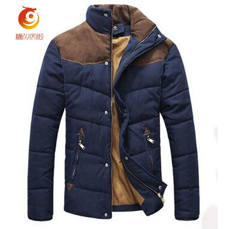 New Hot Sale Mens Winter Jackets Splicing Cotton-Padded Coat High Quality Keep Warm Winter Coat Men Parka Jacket Size 2XL hot sale cotton solid men tank top