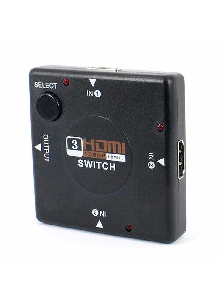 Мини 4 порта 1080P HDMI переключатель 3 в 1 выход