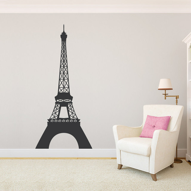 Eiffel Tower Wall Decal Vinyl Art Sticker Paris French Travel Bedroom  Living Room Decoration Home Accessories