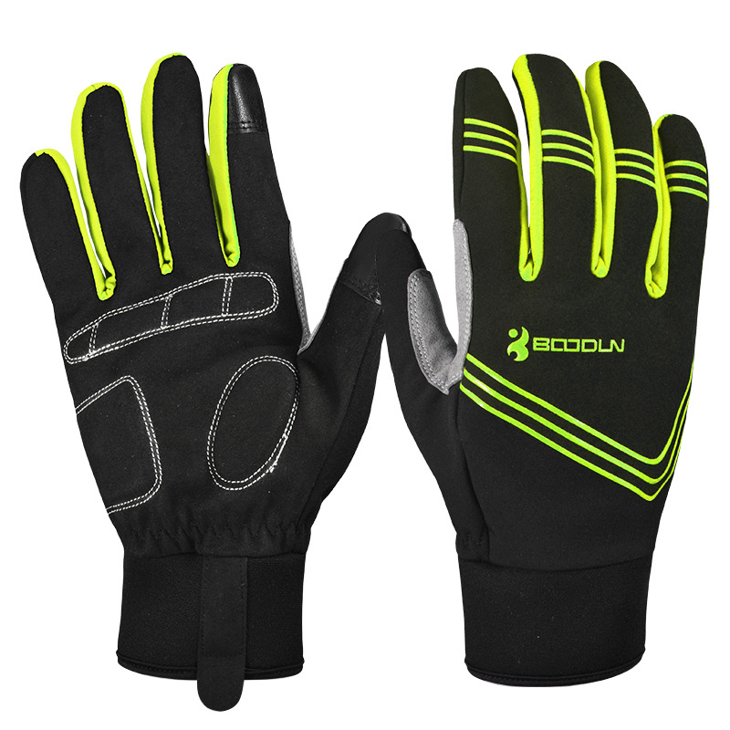 BOODUN Winter Warm Cycling Gloves Touch Screen Bike Gloves Sport Shockproof MTB Road Full Finger Bicycle Glove for Men Woman|Cycling Gloves|Sports & Entertainment - title=