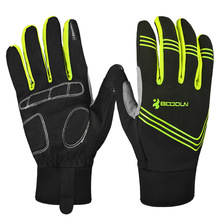 BOODUN Winter Warm Cycling Gloves Touch Screen Bike Gloves Sport Shockproof MTB Road Full Finger Bicycle Glove for Men Woman inbike cycling gloves touch screen bike sport hiking shockproof gloves for men women mtb road bicycle full finger phone glove