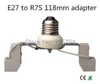 2 adet/grup ücretsiz kargo E27 R7S 118mm dönüşüm lamba tutucu E27 lamba tutucu tabanı dönüş R7S 118 MM lamba tutucu
