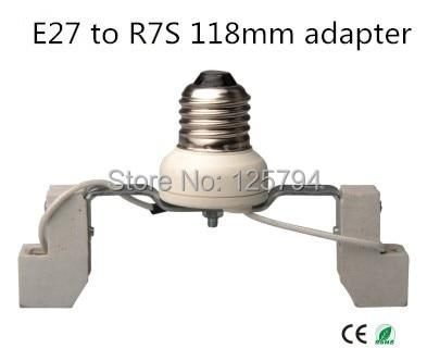 2pcs/lot Free Shipping  E27 R7S 118mm Conversion Lamp Holder E27 Lamp Holder Base Turn R7S 118MM Lamp Holder