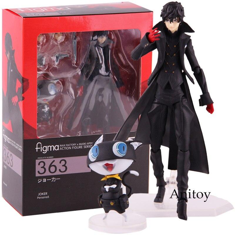 MAX FACTORY Figma 363 Persona 5 figura de acción Shujinkou y Morgana Joker Ver. PVC coleccionables modelo de juguete