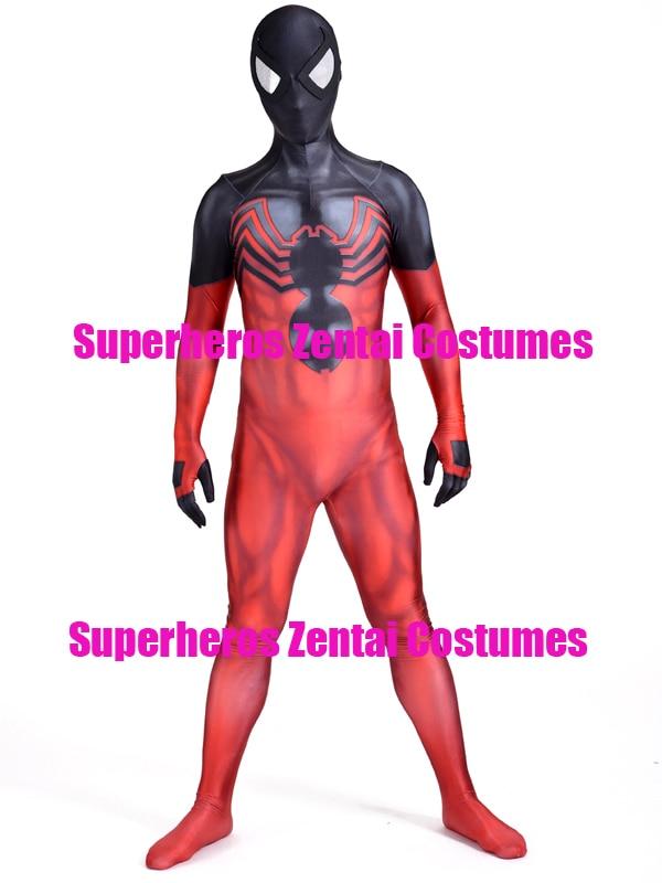 Venom Symbiote Kaine Spiderman Cosplay Costume 3D Print Ben Reilly Scarlet Spider Suit Ultimate Spider man