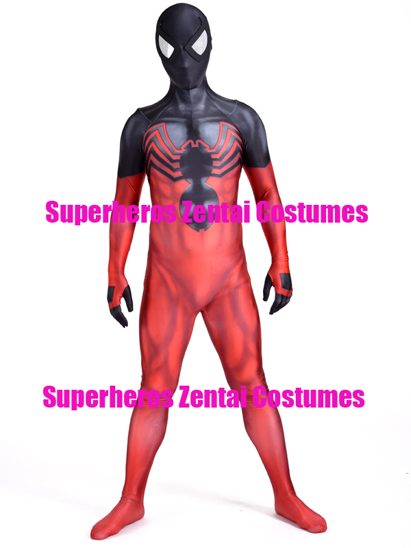 Venom Symbiote Kaine Spiderman Cosplay Costume 3D Print Ben Reilly Scarlet Spider Suit Ultimate Spider man Zentai Full Bodysuit-in Movie & TV costumes from Novelty & Special Use    1