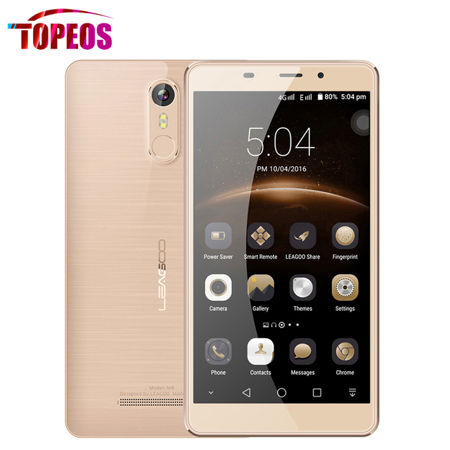 Original LEAGOO M8 MT6580A Quad Core 1.3Ghz Mobile Phone 5.7inch 13MP 2GB RAM 16GB ROM 3500mAh Fingerprint Bigger Than Leagoo M5