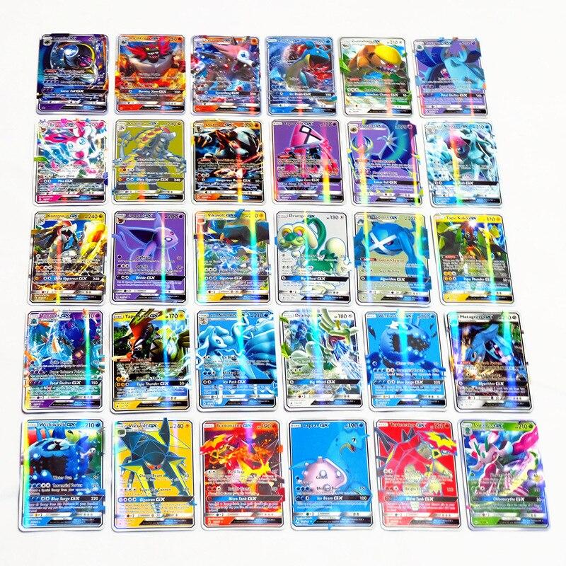 Bộ 200 GX Mega Sáng Takara \ T \ T \ T \ T \ T \ T \ T \ TBúp Bê Tomy Thẻ Game Pokemon Trận Carte Thương Mại Thẻ Trò Chơi Đồ Chơi Trẻ Em