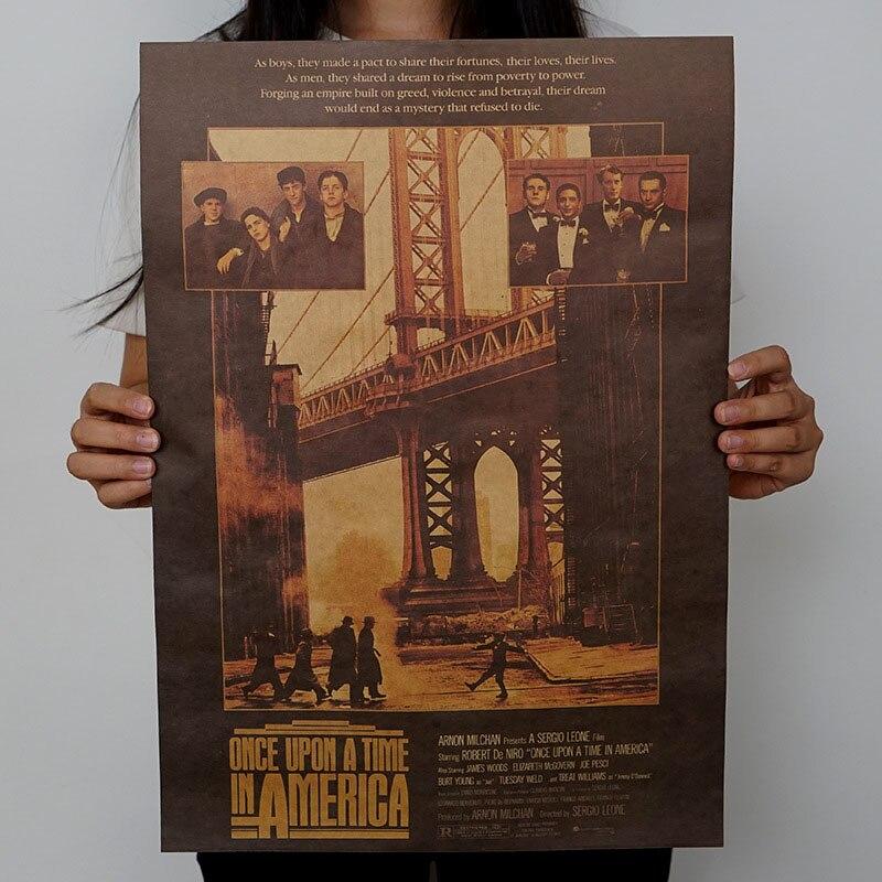 1 шт. винтажные плакаты ретро фильм плакат крафт-бумага плакаты рисунок Классический плакат бар украшение дома живопись стикер стены - Цвет: H04