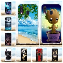 For Samsung Galaxy A40 Case Soft TPU Silicone SM-A405F Cover Beach Patterned Coque