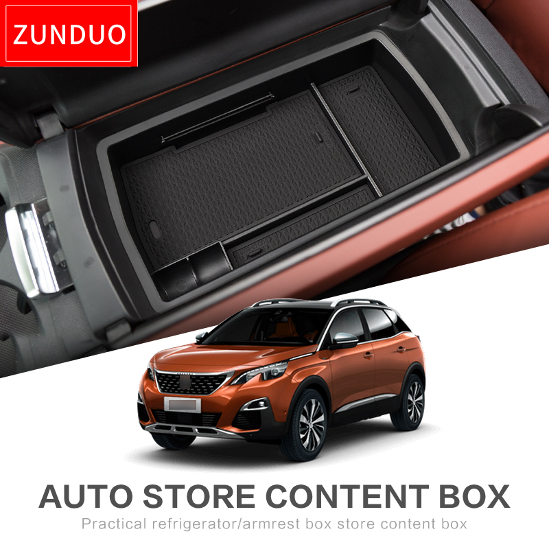 ZHUNDUO Armrest Box Storage Stowing Tidying for Peugeot 3008 2017 2018 2019 2020 MK2 3008GT GT Car Organizer Accessories BLACKZHUNDUO Armrest Box Storage Stowing Tidying for Peugeot 3008 2017 2018 2019 2020 MK2 3008GT GT Car Organizer Accessories BLACK