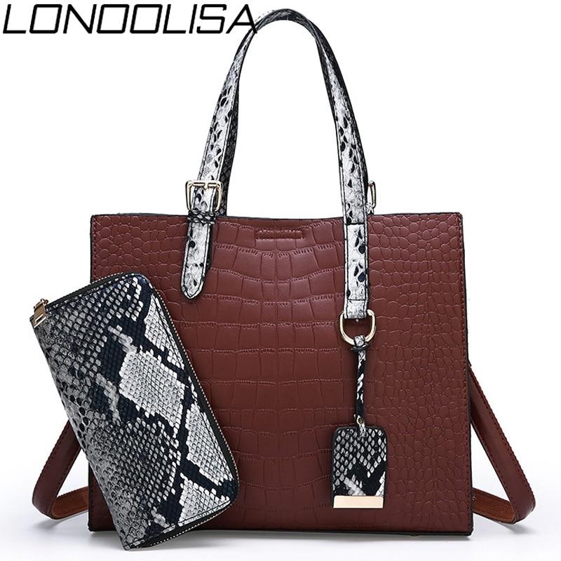 2 Sets Purses And Handbags Fashion Woman Bag High Quality Pu Leather Sac Luxury Handbags Women Bags Designer Female Shoulder Bag