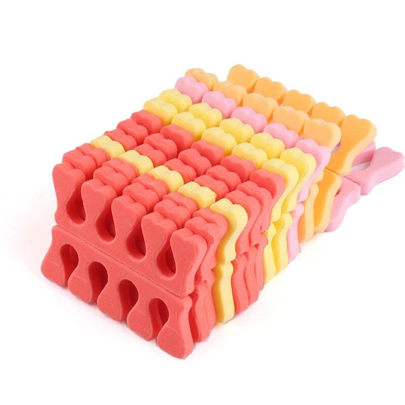 100Pcs Soft Foam Sponge Toe Separators Popular Finger Separator Dividers Nail Art Manicure Pedicure Nail Gel Tools #3374 цена