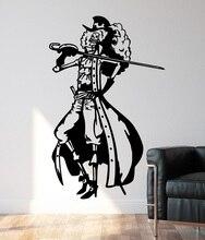 Decalques de parede de vinil um pedaço brook der pirat, decoração para casa, quarto do menino mar fã decoração da sala adesivos de parede hzw15