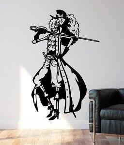 Image 1 - Decalques de parede de vinil um pedaço brook der pirat, decoração para casa, quarto do menino mar fã decoração da sala adesivos de parede hzw15