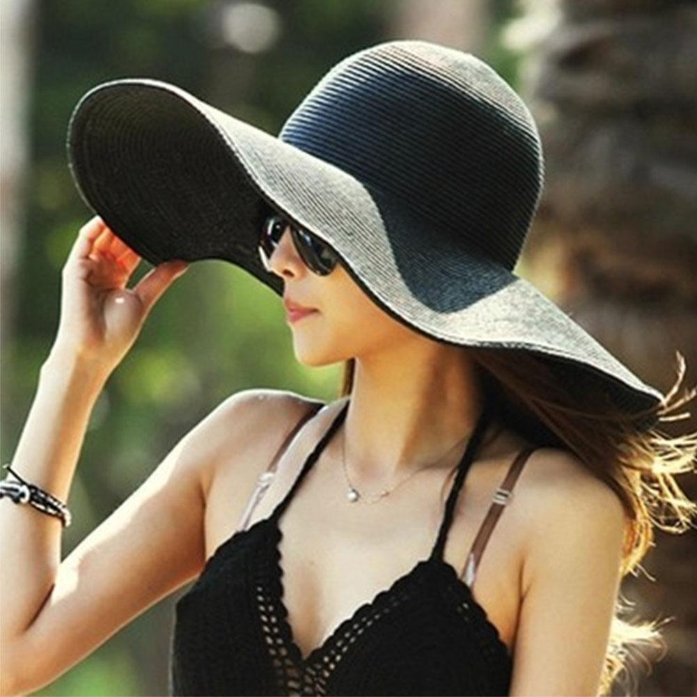 HobbyLane Women Fashion Sun-shade Large Brim Folded Beach Hat