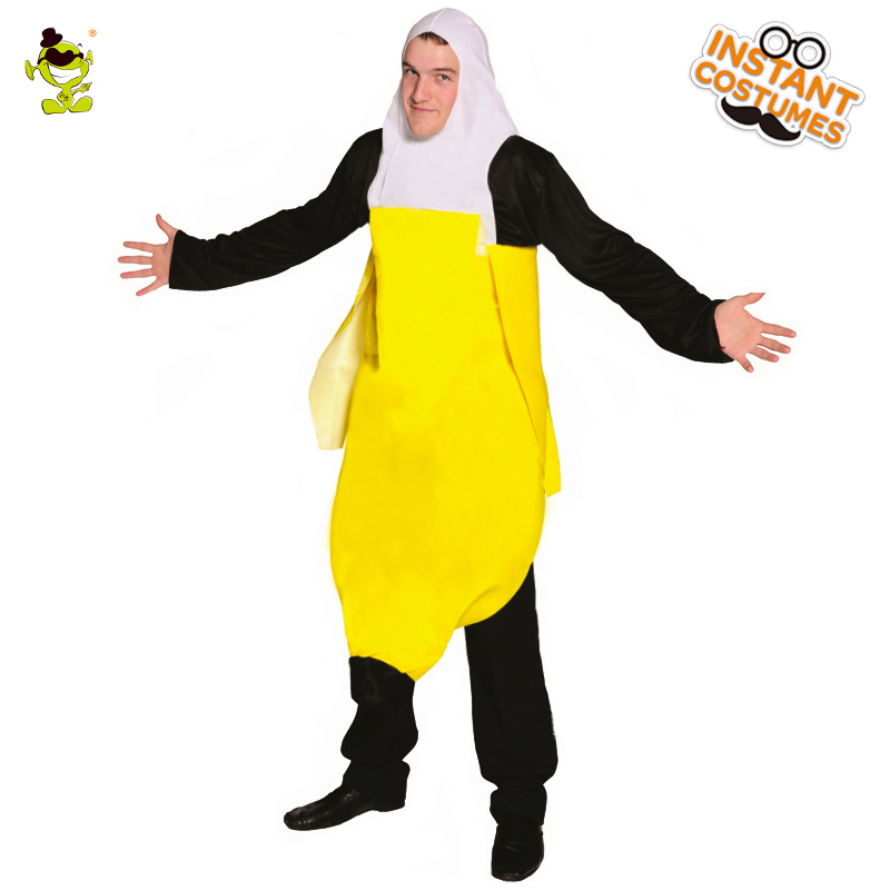 popular mens tween peeled banana costume carnival party dress up cosplay banana costumes - Banana Costume Halloween