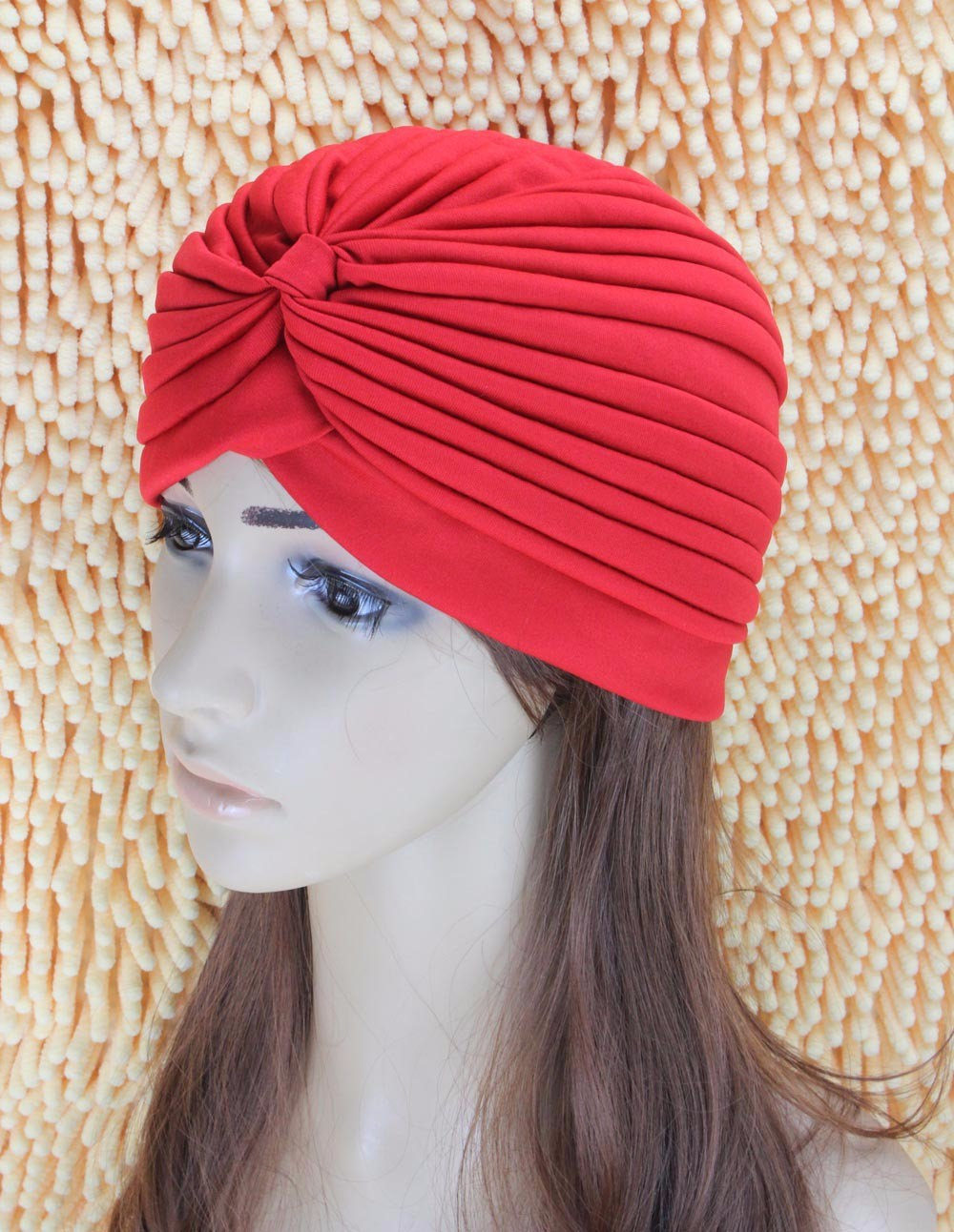 2016 New Fashion Women Turban Hat Bohemia 21 Solid Color Fold Beanies Female Simple Autumn Bonnet Indian Turban Hats For Women (3)