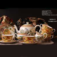 Top grade Bone China Coffee set Luxurious Tea set Ceramic Tableware Porcelain Cups and Saucers