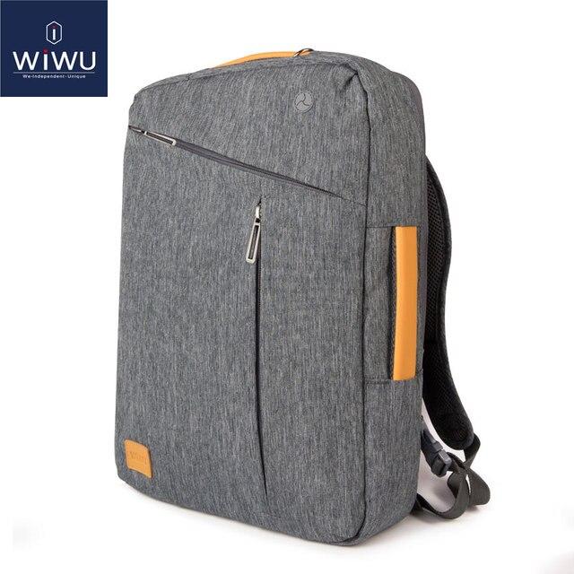 2018 Wiwu Laptop Backpack 15 6 4 14 Canvas Waterproof Leather Bag For Macbook Pro