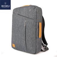 2019 WIWU Laptop Backpack 17.3 15.6 15.4 14 Canvas Waterproof Backpack Leather Bag for Macbook Pro 15 Men's Backpack Laptop Bag