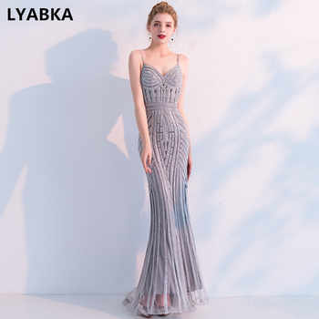 New Fashion Sexy Sweetheart Evening Dress 2019 New Robe De Soiree Vestido De Festa Gray Mermaid Evening Dresses Long Dress Gown - Category 🛒 Weddings & Events