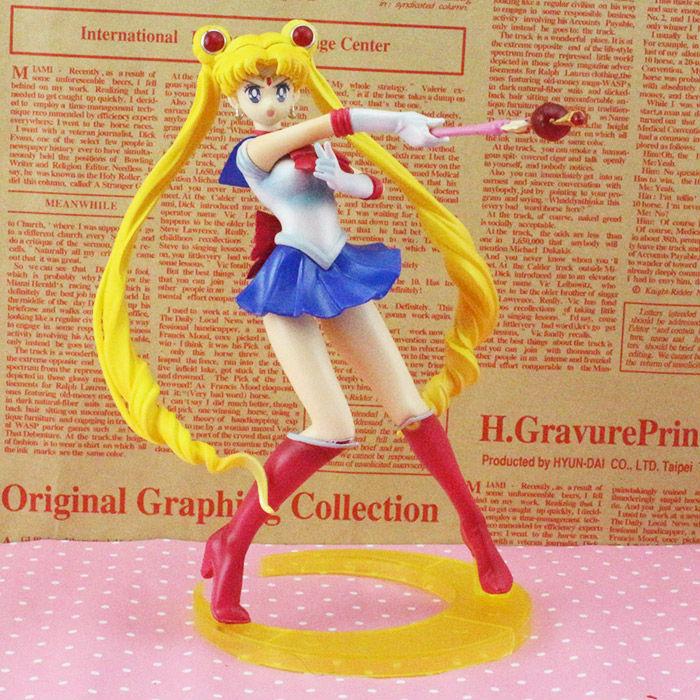Sailor Moon figures Tsukino Usagi 20th Anniversary PVC Action Anime Cartoon ZERO Pretty Guardian Collectible Toy 21CM moon flac jeans