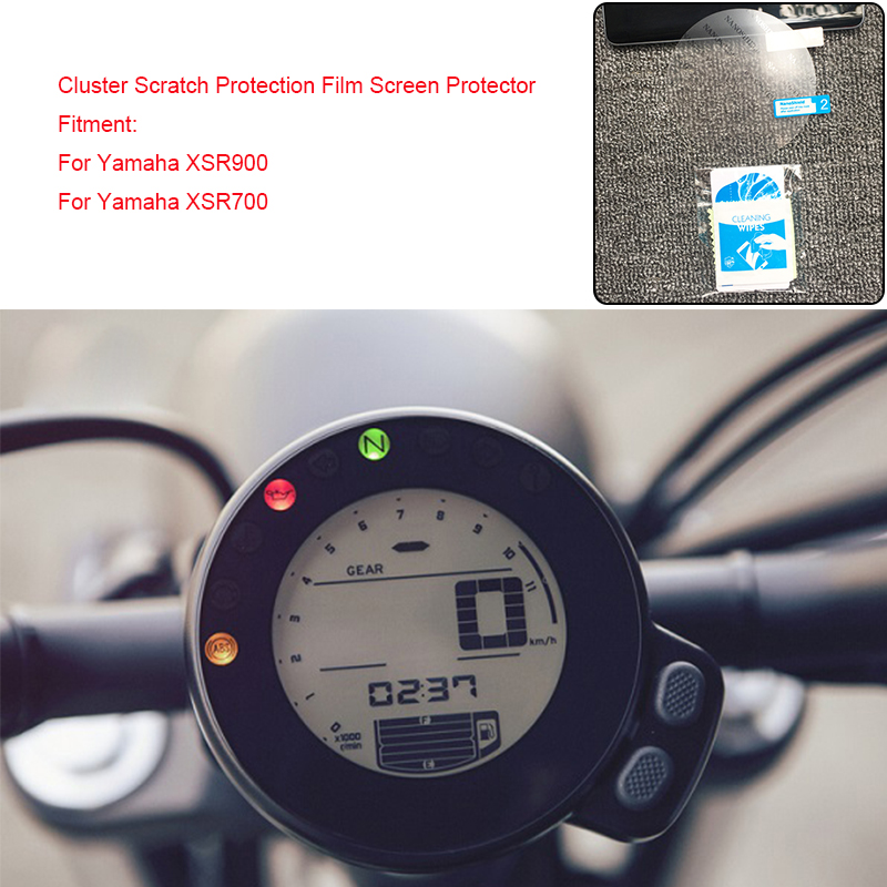 MTCLUB For Yamaha XSR900 XSR700 2016 2017 Motorcycle Speedometer Cluster Scratch Protection Film Screen Protector TPU Clear