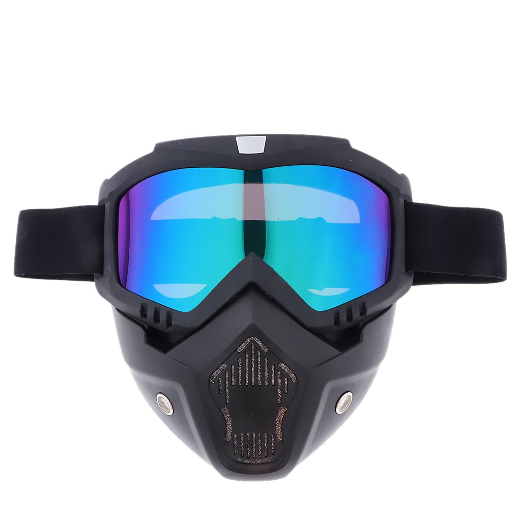Anti-Fog Ski Bike Motorcycle Face Mask Goggles Motorbike Motor Open Face Detachable Goggle Helmets Vintage Glasses Universal(China)