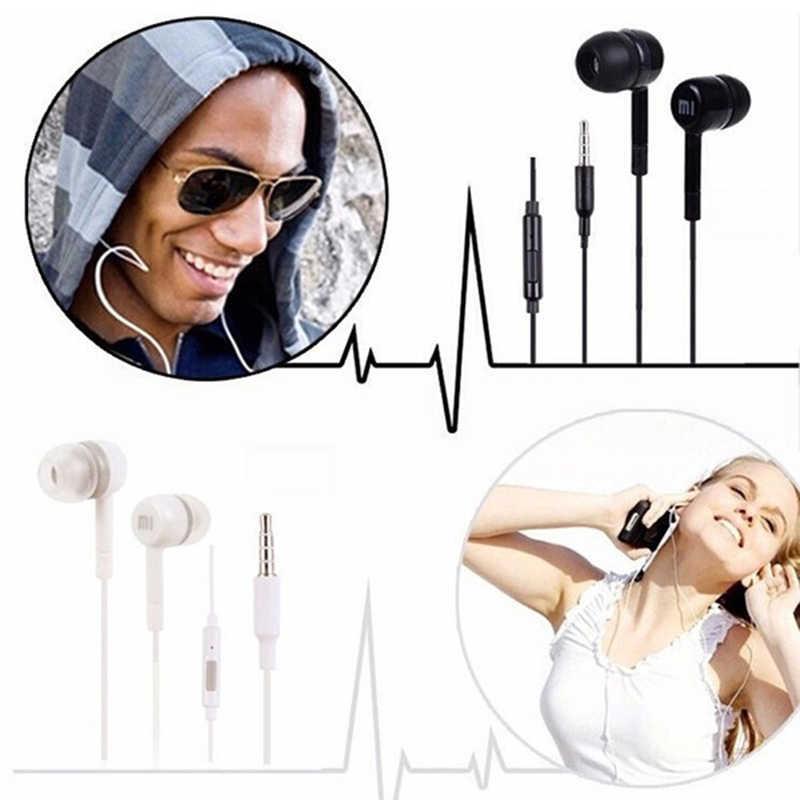3.5mm douszne Słuchawki przewodowe HiFi słuchawki sportowe zmniejszyć hałas do gier zestaw słuchawkowy z mikrofonem dla Xiaomi/Samsung/iPhone TSLM1