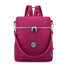 Small Schoolbags for Teenage Girls Mochila Feminine Backpacks Female Solid Nylon Casual Bagpack Women Travel Shoulder